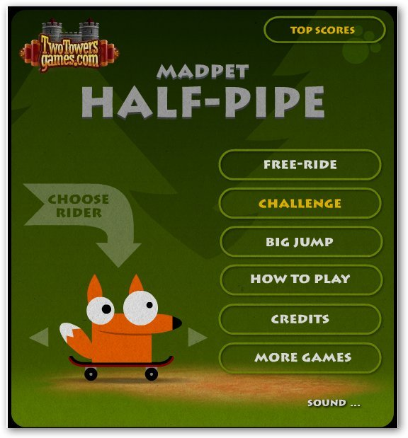 Скейтбординг/Madpet Half-Pipe Онлайн