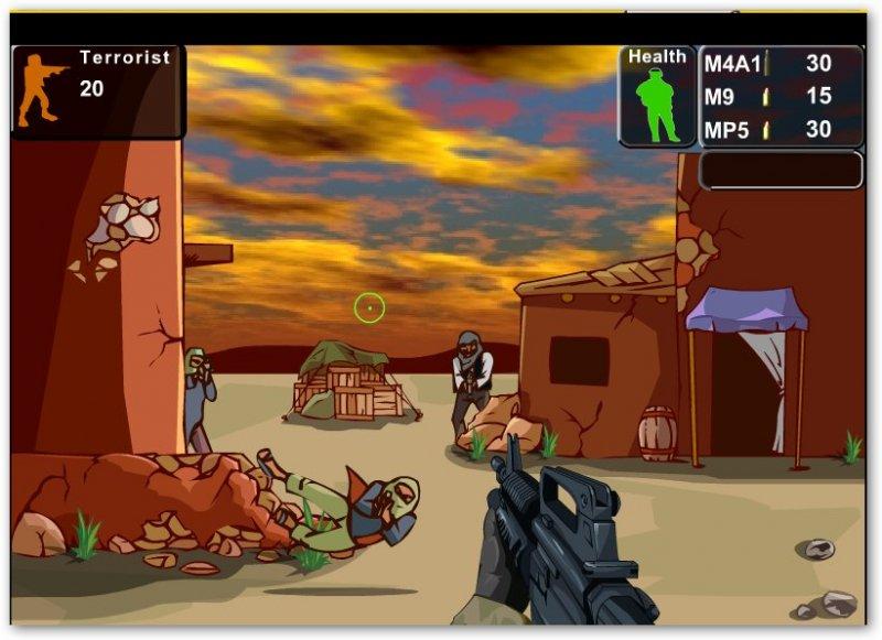 Флеш игра перестрелка с террористами  /Terrorist Shootout Онлайн